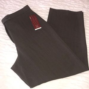 JM Collection Brown Herringbone Trousers NWT